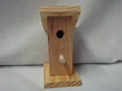 "BIRDHOUSE MINIATURE 3-3/16"" TALL1-1/2"" WIDE"