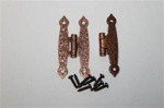 "HINGE ANTIQUE COPPER HAMMERED 1-1/2"" X 3-1/2"" PAIR"