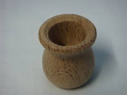 "CANDLE CUPS OAK 1-3/8"" DIA 1-1/2""  TALL 7/8"" HOLE"