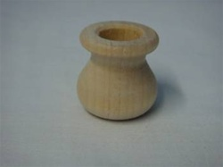 "CANDLE CUPS SPITTOON   1"" DIA 1""  TALL 1/2"" HOLE"