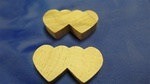 "DHM-38  DOUBLE HEARTS MEDIUM 1-3/4"" X 1"" X 3/8"" THICK"