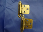 HAB-FM HINGES ANTIQUE BRASS SPRING LOADED FLUSH MOUNT