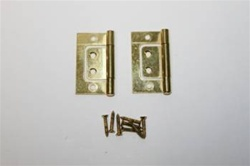 "HINGE NON MORTISE 1-1/2"" BRASS PLATED"