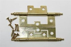 HINGE NON MORTISE BRASS PLATED W/FINIAL 2-1/2""