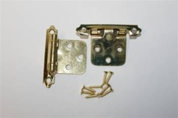 HINGE FLUSH  SPRING LOADED BRASS PLATED