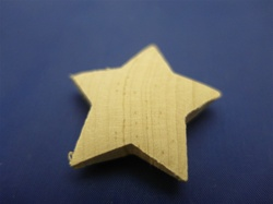 SS-2S138 SCULPTURED STARS 2 SIDED 1-3/8""