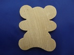 "BEAR-14 CUTOUT BEAR 2-1/4"" X 1-7/8"" X 1/4"" THICK"