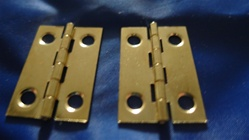 "BHO-112 HINGES 1-1/2"" X 1"" BRASS PLATED"