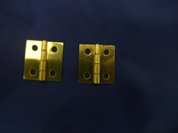 "BRASS PLATED HINGE 1"" LONG X 1-1/16 WIDE"