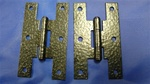 "BHO-50M HINGES STRAIGHT ""H"" NO FINISH BARE METAL 1-1/2"" X 3-1/2"" 6 HOLE PAIR"