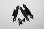 "HINGE BLACK HAMMERED 1-1/2"" X 3-1/2"" PAIR"