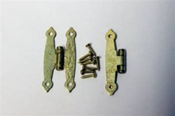 "HINGE POLISH BRASS HAMMERED 1-1/2"" X 3-1/2"" PAIR"