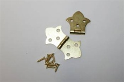 "HINGE BUTTERFLY BRASS PLATED 1-3/8"" X 2-1/2"""