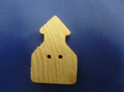 "BU-SCH CLOTHING BUTTONS SCHOOL HOUSE 1-1/4"" HEIGHT X 5/8"" WIDE X 3/16"" THICK"