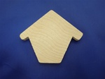 "CO-BH6 CUTOUT BIRDHOUSES 2-1/4"" WIDE X 2-3/16"" HEIGHT 1/4"" THICK"