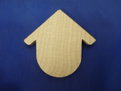 "CO-BH9 CUTOUT BIRDHOUSES 1-7/8"" WIDE X 3-1/8"" HEIGHT 1/4"" THICK"