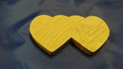 "DH-14 DOUBLE HEARTS LARGE 2-3/4"" X 1-1/2"""" X 1/4"" THICK"
