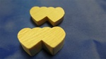 "DHS-14 DOUBLE HEARTS SMALL 1-1/8"" X 5/8"" X 1/4"" THICK"