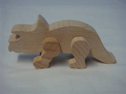 "DINOSAUR TRICERATOPS 1-1/4"" TALL AND 3-1/8"" LONG"