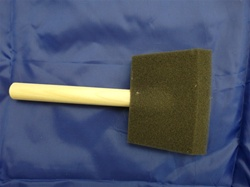 "FB-2  FOAM PAINT BRUSHES 2"" WIDE WITH WOOD HANDLE"