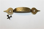 "5"" ANTIQUE  BRASS PULL HAMMERED"