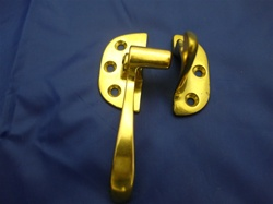 HIB-LL ICE BOX LEFT LATCH BRASS PLATED