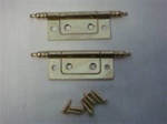 HINGE NON MORTISE BRASS PLATED WITH FINIAL 2""